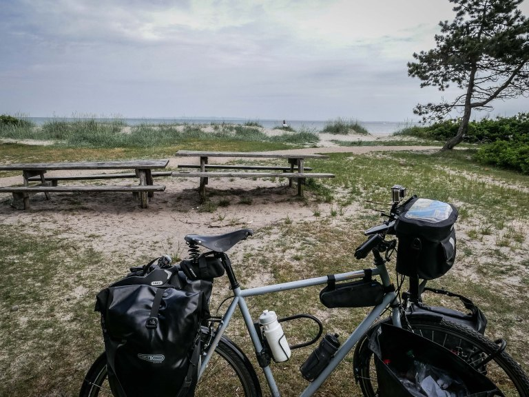 Denmark-beach-bike-bench