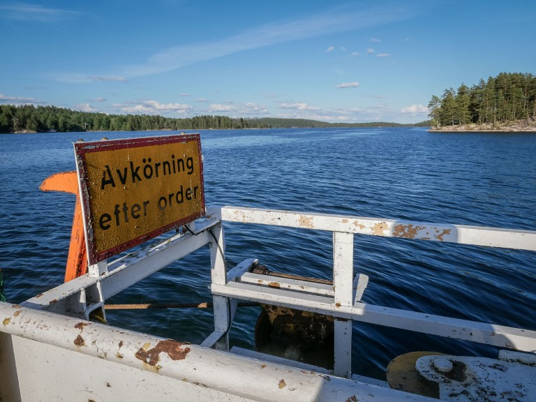 Sweden-lake-boat