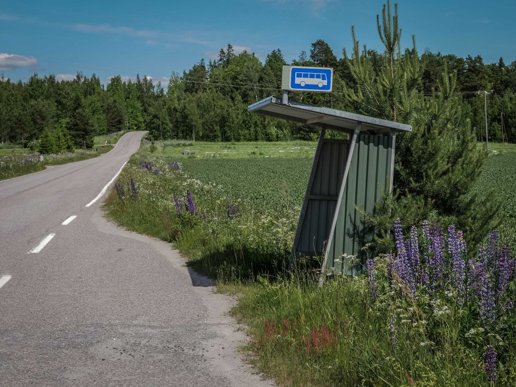 Finland-bus-stop