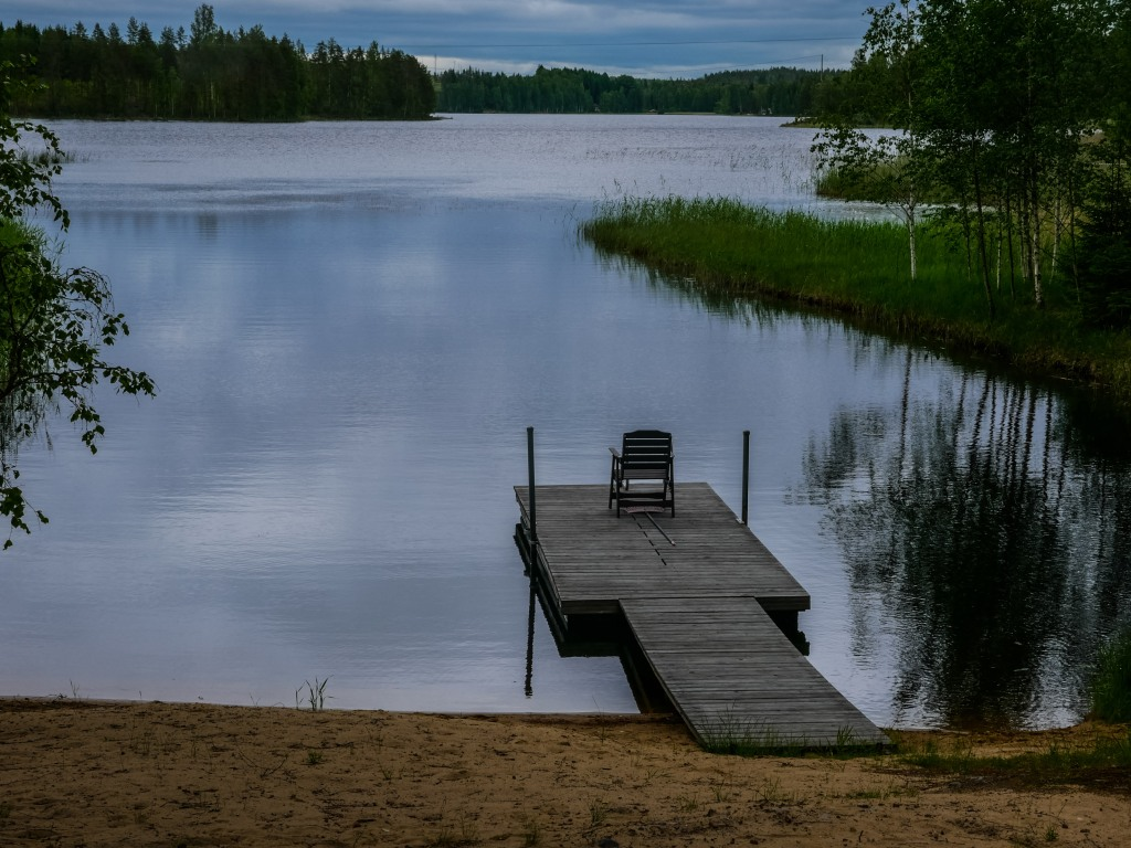 Finland-evening-lake-chair