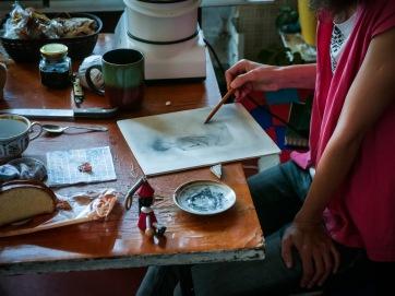 Tanya is drawing