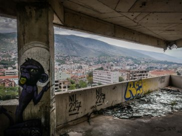 Mostar: shooting from here...