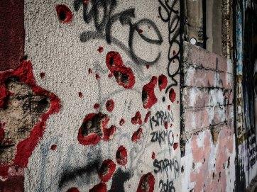 Mostar bullet holes