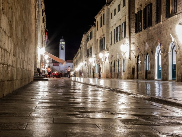 Dubrovnik as empty as it can be