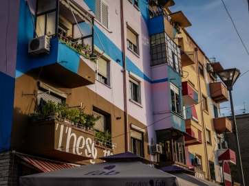 Tirana puts color on buildings