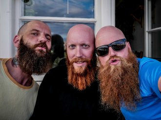 Compare beards with your new friends Kardo and Marcus (Stockholm - Sweden)