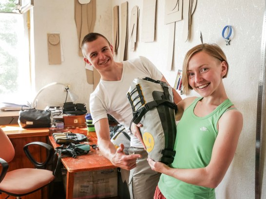Sleeping in Stanislav and Elena's creative lab