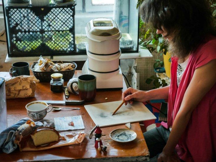 Coffee with Tanya the artist (Kiev - Ukraine)