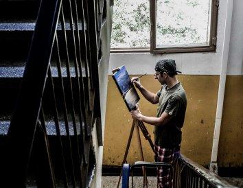 You don't disturb Catalin the painter (Bacau - Romania)