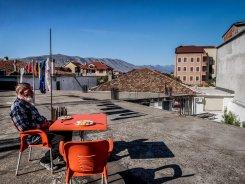Chuch on his balcony (Shkoder - Albania)