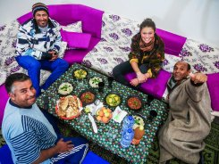 Meal with Taha's friends (Douz - Tunisia)