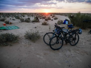 Dune camp with Taha and friends